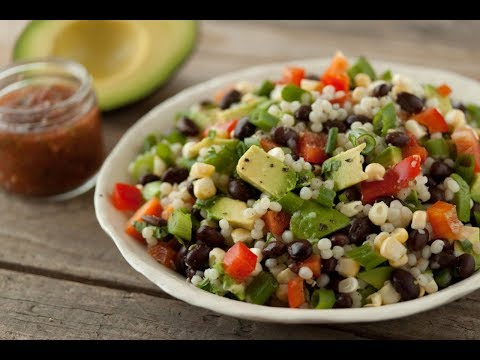 Black Bean and Couscous Salad. Appetizing!