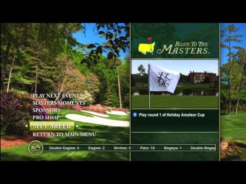 Tiger Woods PGA TOUR 12: The Masters - Menu Overview