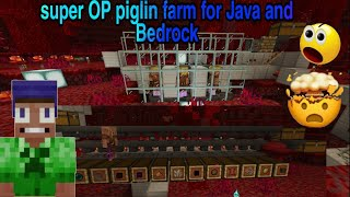 Minecraft 1.16 super op piglin farm for java and bedrock
