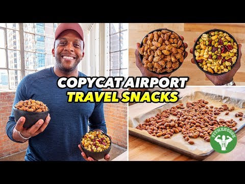 Copycat Airport Travel Snacks Protein Trail Mix & Wasabi Almonds
