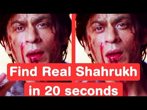 Find Real Shah Rukh Khan in 20 seconds - Zero Challenge