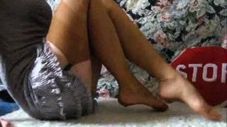 Goddess BitterSweet feet & vintage nylon stockings teaser