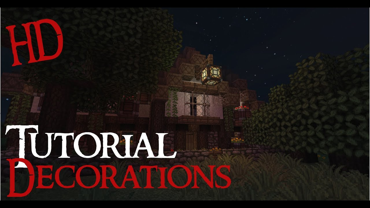 Minecraft Medieval House Decorations Tutorial HD Download