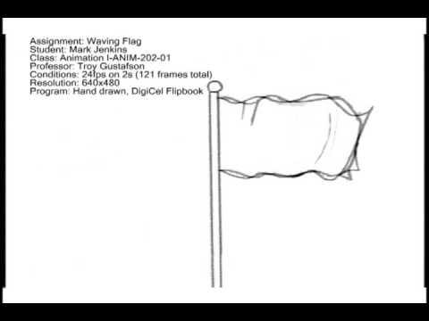 Animation-Waving Flag - YouTube