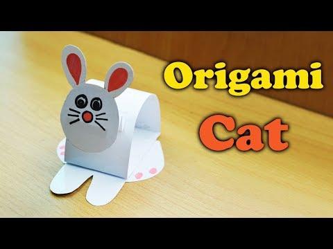 DIY | How To Make Cute Origami Paper Cat | Easy Tutorial