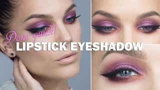 Done Quick- Lipstick eyeshadow - Linda Hallberg makeup tutorials Thumbnail