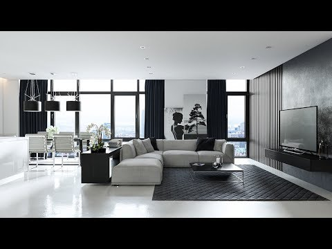 Living Room Designs Grey Black And White Living Room Furniture Design Decorating Ideas Youtube