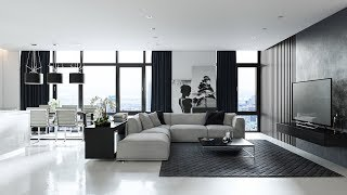Living Room Designs Grey Black And White Furniture Design Decorating Ideas Youtube