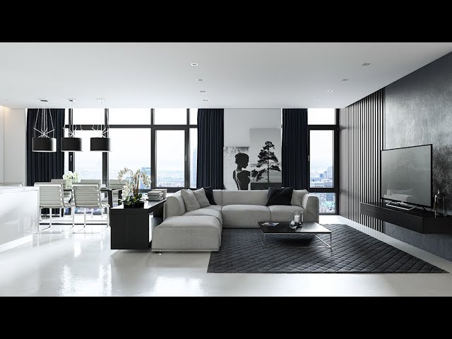 Living Room Designs Grey Black And, Modern Living Room Black And White