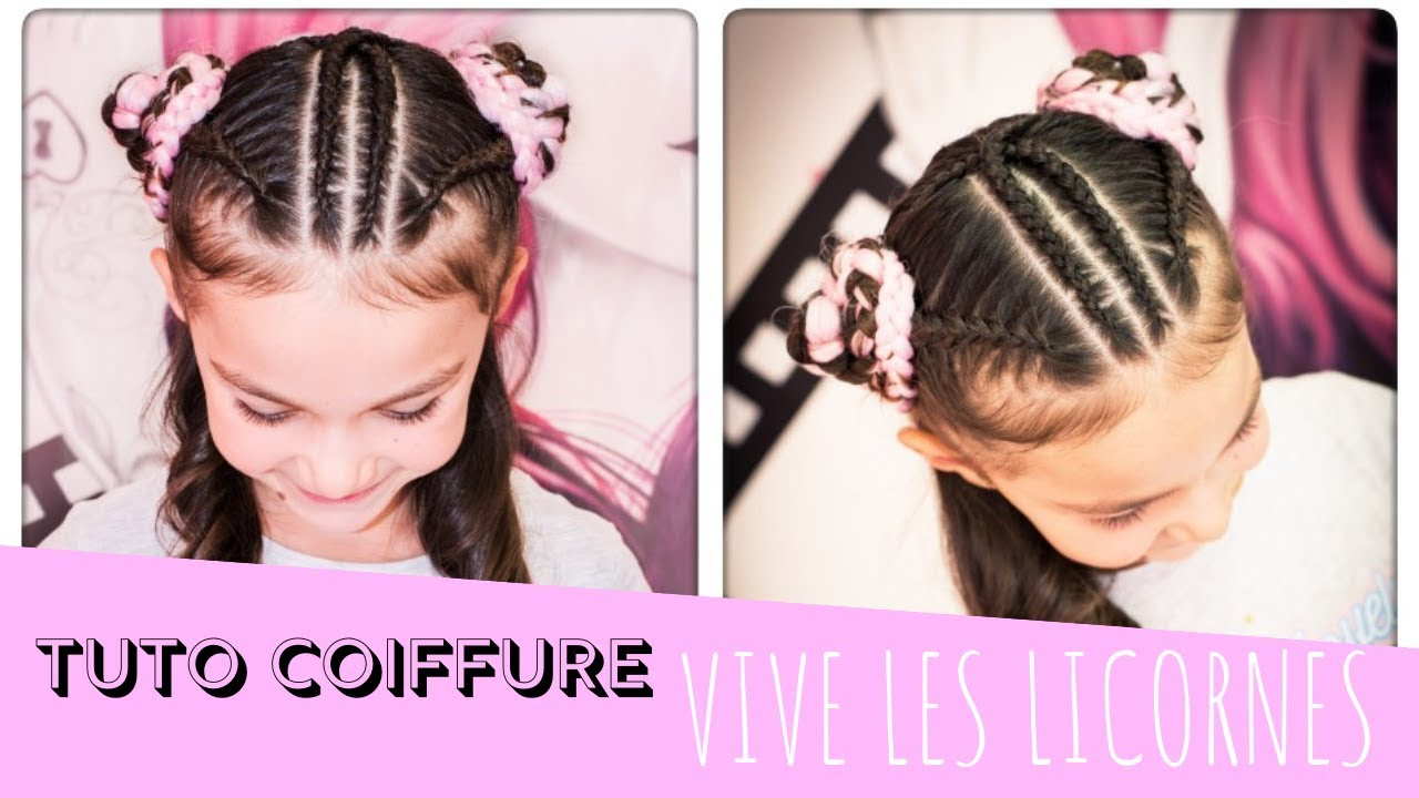Unicorn Hair Style Coiffure Licorne Youtube
