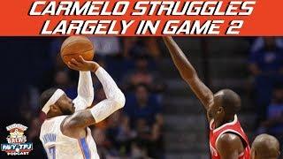 Carmelo Anthony Struggles In Game 2 | Hoops N Brews
