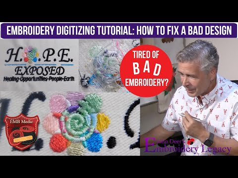 Embroidery Digitizing Tutorial: How To Fix A Bad Design Using Software