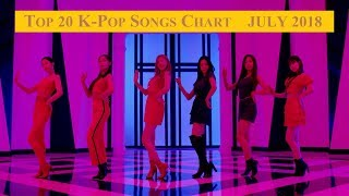 Top 20 K-Pop Songs Chart - July 2018 | CheeYoung95