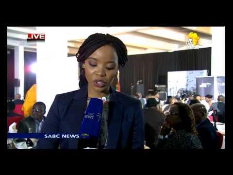Hlaudi Motsoeneng at the SABC 24-hour news channel's expansion launch