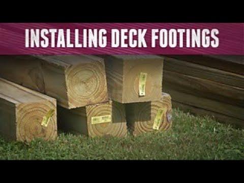 How to Install Deck Footings - DIY Network