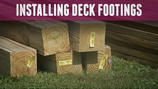 How to Install Deck Footings - DIY Network