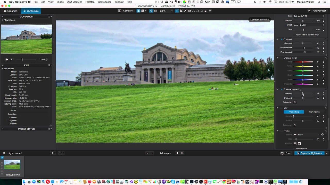 Dxo Optics Pro 10 Rus торрент Mac