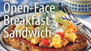 Inspired Cooking Presents: Open-face Breakfast Sandwich