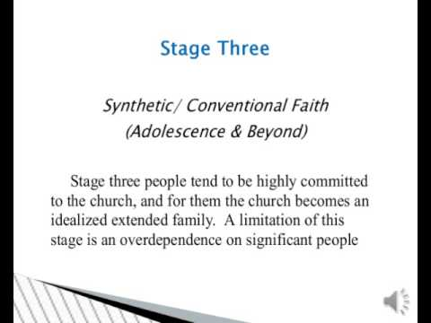 Fowler's Six Stages of Faith Development by Glenn A. Beeler