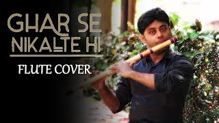 Ghar Se Nikalte Hi - Flute Cover Instrumental - Udit Narayan - Armaan Mallik - Divine Bansuri