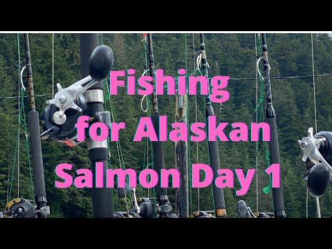 Alaska Fishing Trip, Fishing For Salmon While Trolling.  Salmon Fishing In Alaska Is Amazing