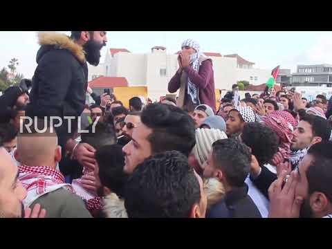Jordan: Protesters light fire outside US embassy after Jerusalem recognition