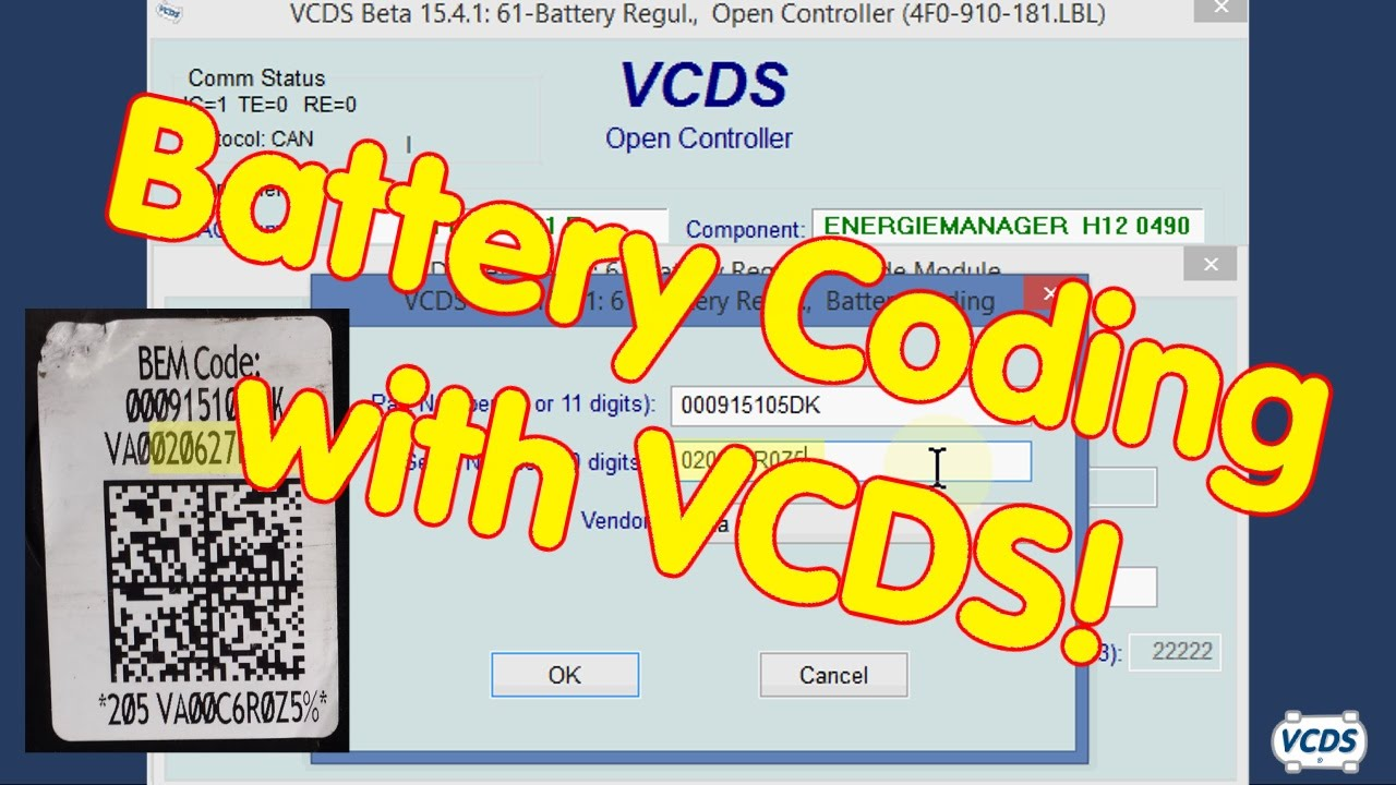 best oem battery replacement and coding of new battery audiworld forums [ 1280 x 720 Pixel ]