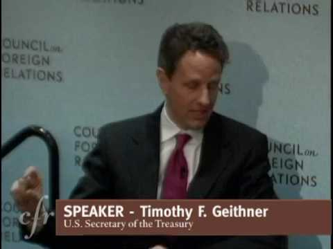 A Conversation with Timothy F. Geithner
