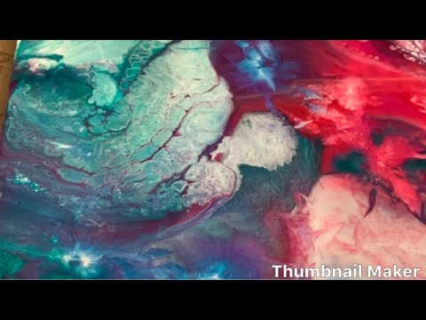 Epoxy resin Art Painting with acrylic ink With cells