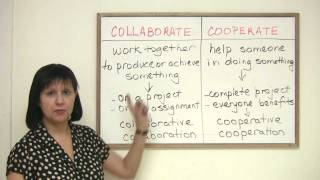 Business English Vocabulary – COLLABORATE or COOPERATE?
