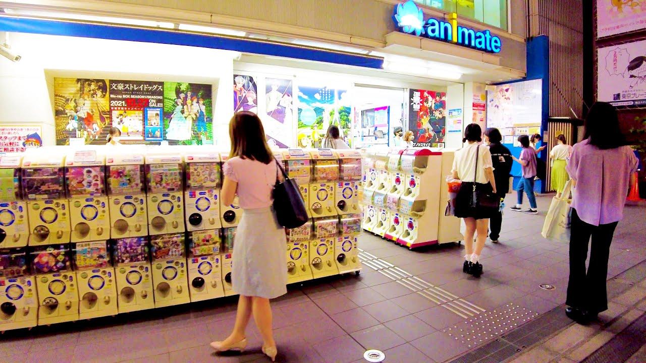 [Ikebukuro Walk in Tokyo] Anime Night Town ♪ (4K ASMR non-stop 1 hour 01 minutes)