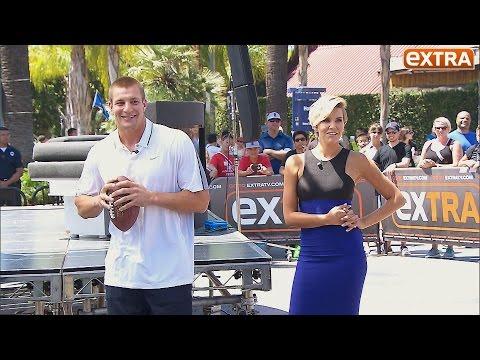 Rob Gronkowski Takes on 'Extra's' Charissa Thompson in Throwing Contest thumbnail