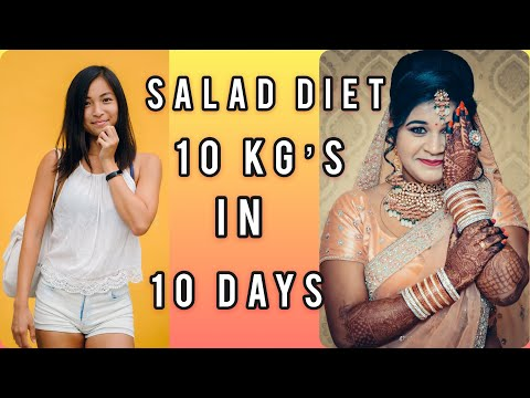 HOW TO LOSE WEIGHT FAST 10 KG in 10 Days | 900 Calories Salad 🥗 Diet Plan Organic Morning Breakfast