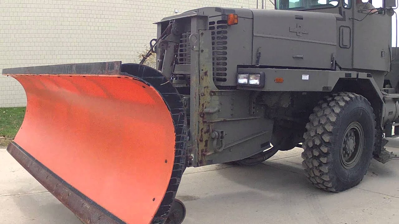Military Snow Plow for sale - YouTube