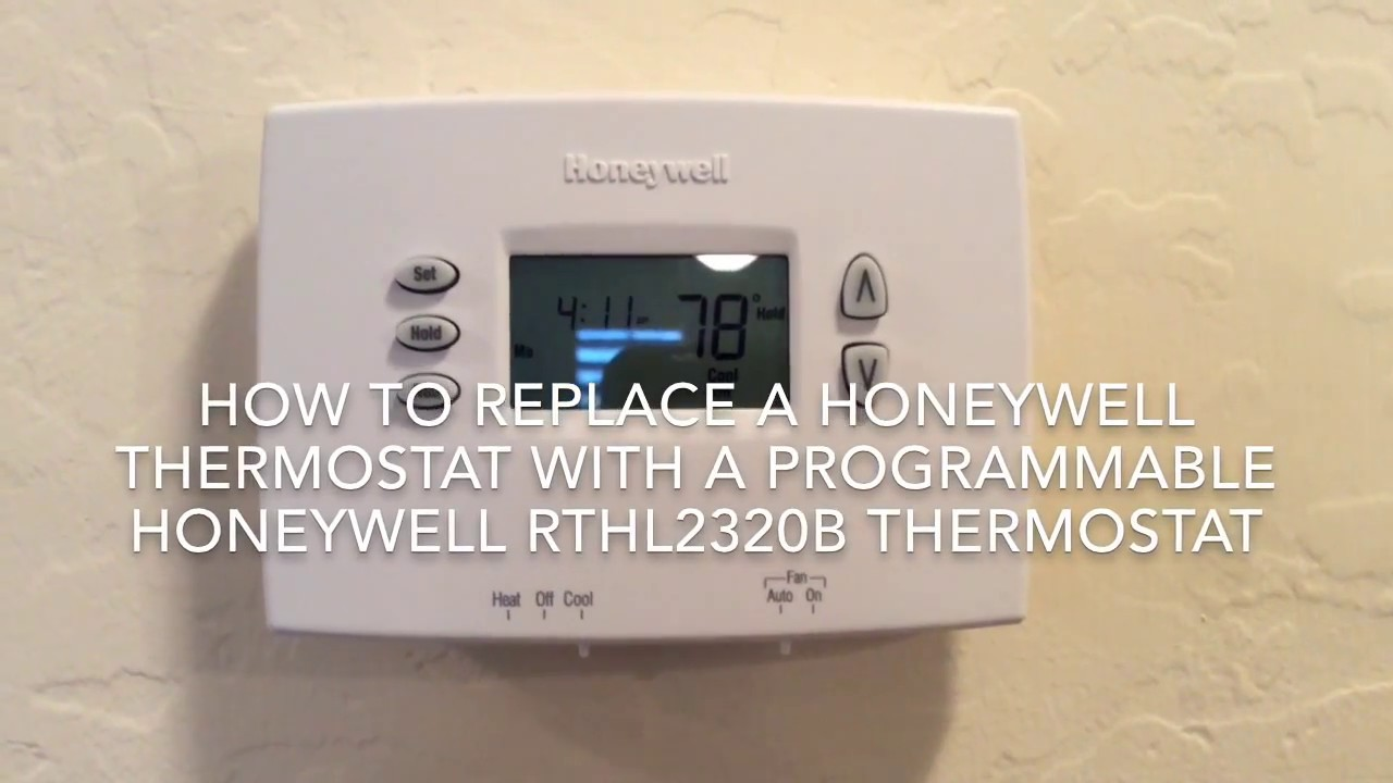 installing a honeywell programmable thermostat youtube rh youtube com honeywell programmable thermostat manual 8000 honeywell programmable thermostat manual 8000
