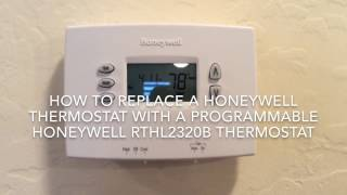 Installing A Honeywell Programmable Thermostat
