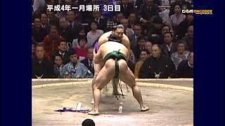 若花田vs旭富士 (平成4年一月場所)