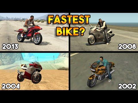 GTA : EVOLUTION OF FASTEST BIKES ! (GTA 5, GTA 4, GTA SAN ANDREAS, GTA VICE CITY)