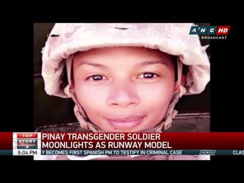 Pinay transgender soldier moonlights as runway model