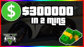 How To Make $300,000 In 2 minutes in GTA 5 Online  Fast GTA 5 Money Method