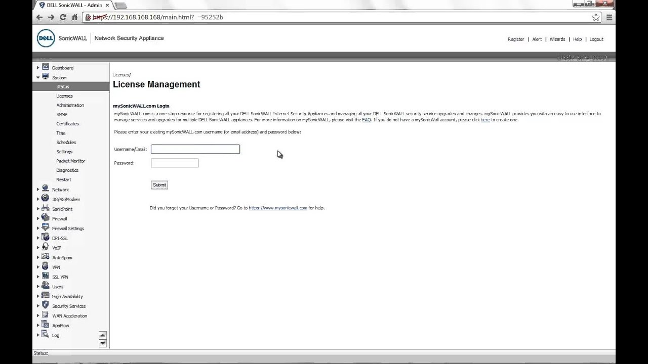 How To Register The Sonicwall Firewall Youtube