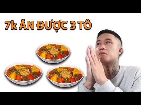 Gấu Vlogs - 3 Tô Bún Riêu Chỉ Với 7k L Xấu Hổ Quá ( Cheap Noodle Soup )