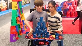 Speed Stacking at the New York Toy Fair!  5 WEEKS IN NYC (pt. 1)