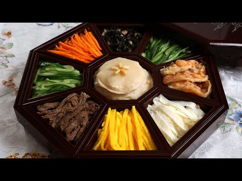 Gujeolpan (Platter Of 9 Delicacies: 구절판)