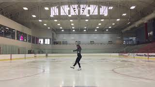 Adult Figure Skating Gold Moves In The Field Practice 9-7-17