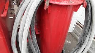Ремонт трансформатора для прогрева бетона на стройке в полевых условиях.