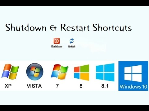 How to Create Shortcut for Shutdown & Restart your PC/Computer (windows  7/8/8 1/10)