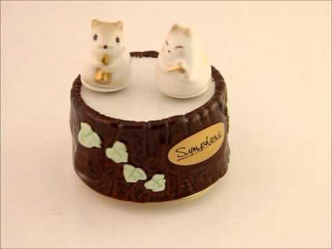 ceramic dolls music box
