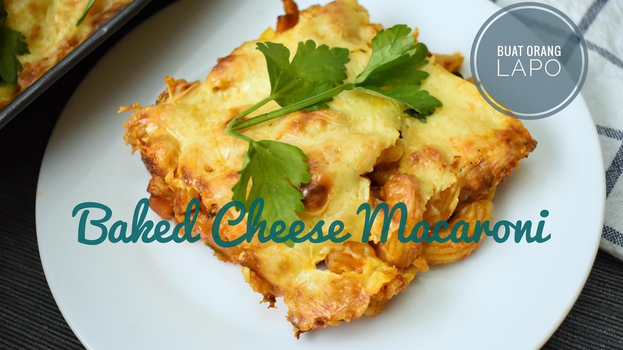 Baked Cheese Macaroni Makaroni Keju Bakar Youtube