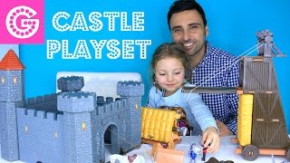 Строим игрушечный ЗАМОК/ КРЕПОСТЬ . Castle Playset toys(Подписывайтесь на мой канал ! https://www.youtube.com/channel/UC8lEBZy897-_tacyTaUZX0Q В этом видео Йоланда вместе с папой открывают..., 2016-02-18T15:37:02.000Z)